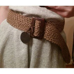 Chico's woven peasant boho rustic belt L/XL wide